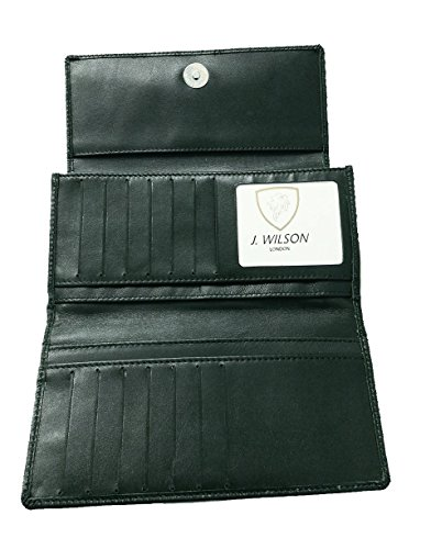 RFID Blocking Ladies Designer Quality Soft Sheep Leather Purse Wallet Black