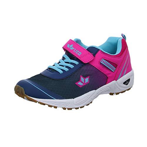 Indoor-marine (Lico Damen Barney VS Multisport Indoor Schuhe, Blau Marine/Pink/Türkis, 38 EU)