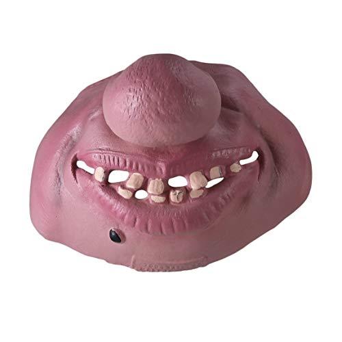 imlich Schrecklich Männer Frauen Latex Maske Halloween Party Halbes Gesicht Cosplay Kostüm Gruselige Latex Maske (farbe: Mehrfarben gemischt) ()