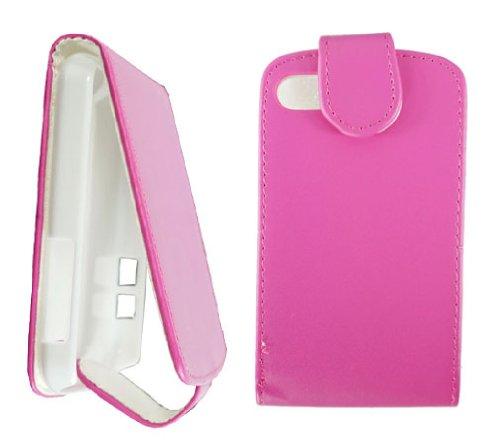 New Pink PU Leder Flip Handytasche für BlackBerry Q10