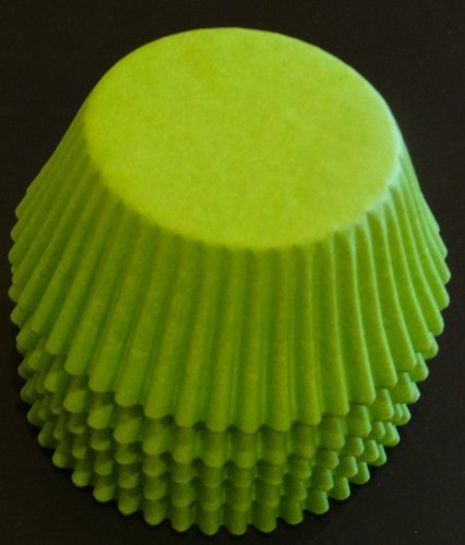 100 Lime Green Cupcake Liners Baking Cups STANDARD SIZE by Baking and Candy Cups (Lime Liner Green Cupcake)