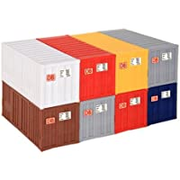 Kibri 10924 - H0 20-Fuß Container 8 Stück Pack.