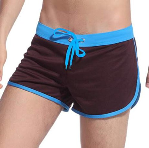 Men's Casual Fitness Polyester Shorts Café