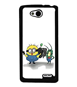 printtech Minions Back Case Cover for  LG L90