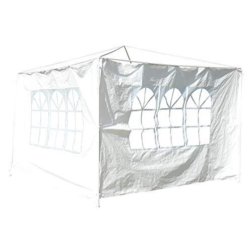 Outsunny 2 Paredes Parte Laterales para Carpa 3x3m 3x6m Lado Parasol de Gazebo Tela Oxford Impermeable con Ventanas Medidas 300x200cm