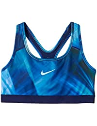 Nike G NP Classic AOP2 Sujetador Deportivo, Niñas, Multicolor (Hydrangeas/Binary Blue/Still Blue), S