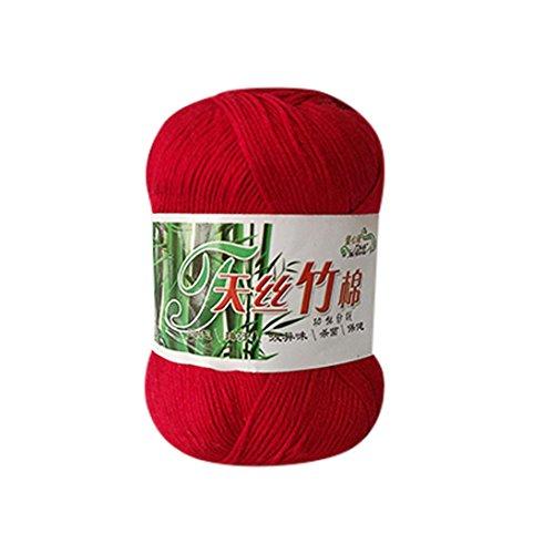 Classic Wolle Garn, diadia Bambus Baumwolle yarn- 50g–New Bambus Baumwolle für Crochet, stricken, a (Dk Gewicht Garn)
