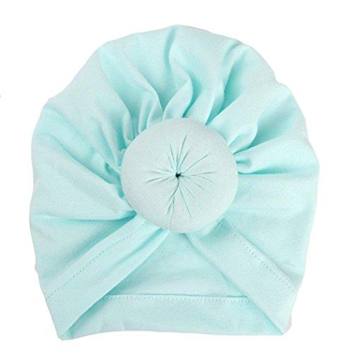 Fuibo Baby Hut, Baby-Turban-Kleinkind scherzt Jungen-Mädchen-Indien-Hut reizenden weichen Hut| Kinder Kappe Fischerhut Schirmmütze Strohhut (Mint Green)