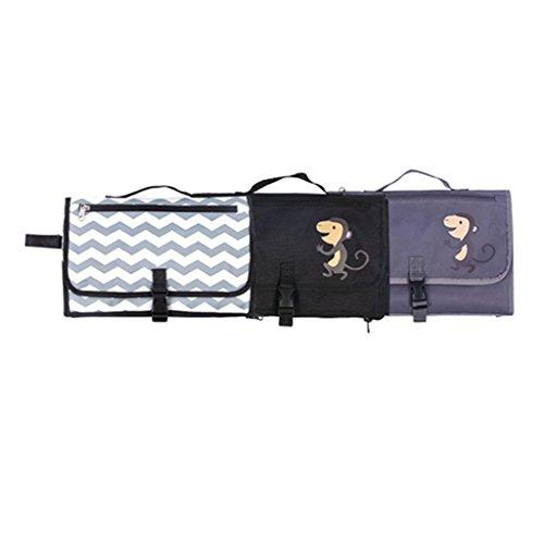 cornasee tragbar Baby Wickelunterlage und Mini Tasche–leicht, extra groß, wasserdicht Wickeln Pad für Reisen