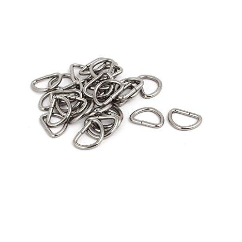 30 Stück 10mmx7mm Koffer Geldbörse D Ring Kette Gurt Schließe Ersatz Silber (- Ersatz Gepäck-gurte)