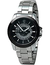 Skone 7232-4 Analog Black Dial Stainless Steel Strap Wrist Watch / Casual Watch - For Men's