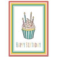 Set of 10 Birthday Cards Multipack - Bulk Happy Birthday Card with Envelopes Set - Blank Birthday Cards for Women, Men, and Kids