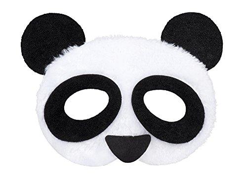 erdbeerclown- Kostüm Halbmaske Panda Gesicht, (Zauberer Kostüm Mickey)