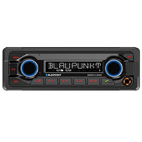 "Blaupunkt DENVER 212 DAB BT ""Heavy Duty"" Autoradio 12V | 1DIN | DAB+ | Bluetooth Freisprechen & Audio | USB | AUX | Anschluss Lenkradfernbedienung | IR-Fernbedienung | 4x 50W max."