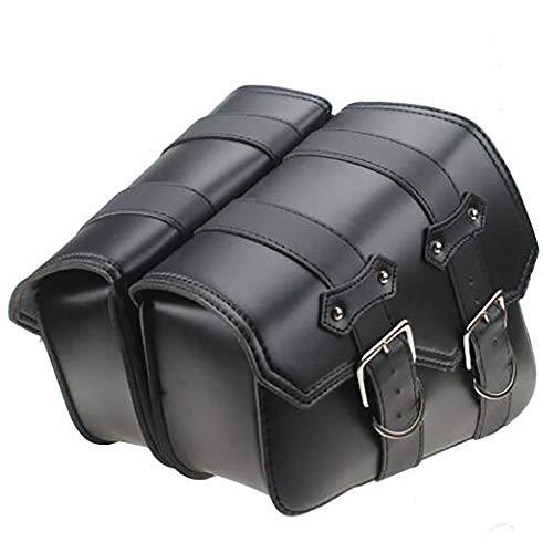 Bolsas de equipaje laterales para Harley Davidson, de la marca BJ Global, color negro, 2 unidades