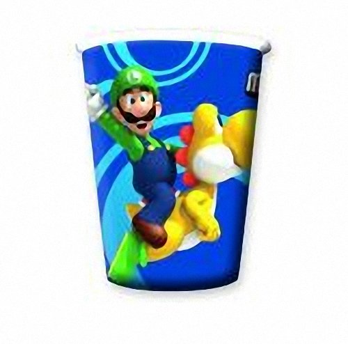Super Mario Bros Wii PARTY CUPS / Party Tassen (Packung mit (Bros Supplies Super Mario Party)