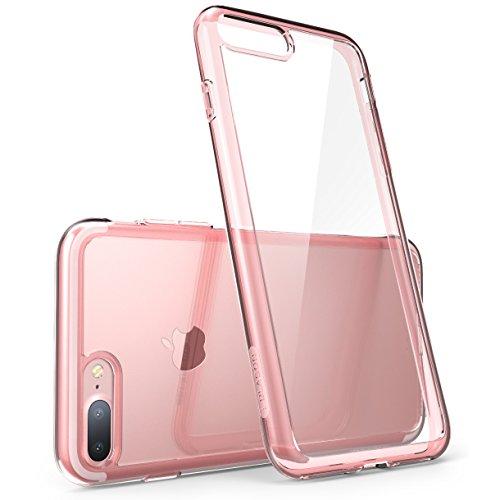 iPhone 8 Plus Hülle, i-Blason [Halo Serie] Schutzhülle Transparent Case Kratzfeste Handyhülle Cover (Kompatibel mit Apple iPhone 7 Plus / iPhone 8 Plus), Transparent Klar/Rosagold