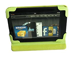 "GREEN mCover® Leather Cover Case for Amazon Kindle Fire Tablet with 7"" Full Color Multi-touch Display"