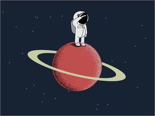 Unbekannt Alu Dibond 80 x 60 cm: Saturn Salute von Kidz Collection/Editors Choice