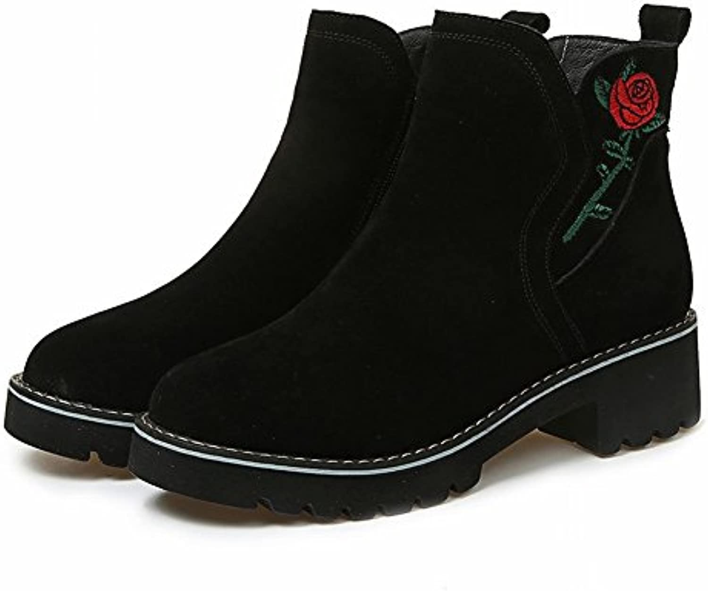 Zapatos de Mujer Botas Chelsea Matorral Bordado Martin Botas Zapatos de Mujer , negro , EUR36.5