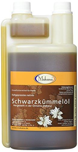 Makana Schwarzkümmelöl für Tiere, kaltgepresst, 100% rein, 1000 ml PE-Dosierflasche (1 x 1 l)