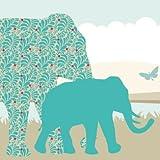 Anna Wand Bordüre selbstklebend Sunny Safari - Wandbordüre Kinderzimmer/Babyzimmer mit Afrika-Tieren in versch. sonnigen Farben - Wandtattoo Schlafzimmer Mädchen & Junge, Wanddeko Baby/Kinder