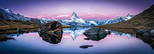 Póster de montaña HD XXL - 118,8 x 42 cm, El monte Cervino y Riffelsee, Zermatt, Suiza | Decoración mural de alta resolución de ARTBAY