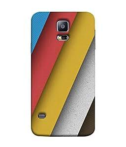PrintVisa Designer Back Case Cover for Samsung Galaxy S5 :: Samsung Galaxy S5 G900I :: Samsung Galaxy S5 G900A G900F G900I G900M G900T G900W8 G900K (Broad Stripes In Different Colours)