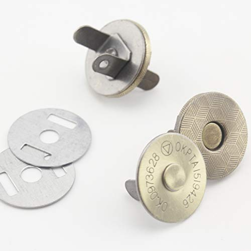 10 mm magnetischer Druckknopf für Tasche, Geldbörse, Magnetverschluss, Antibronze, Nickel zur Auswahl, 20 Stück Thin Anti bronze - Magnetische Snap Tasche