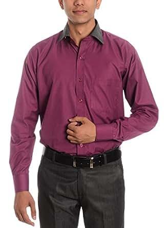 Tag & Trend Slim Fit Formal Shirt Plum Violet Color for Men