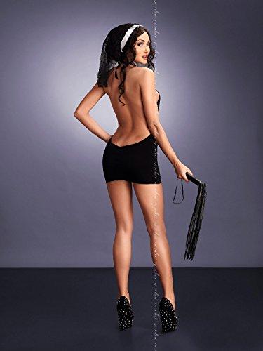 Me Seduce 2x große/3x große schwarz Ines Kostüm (Lustige Kostüm Schwarz)