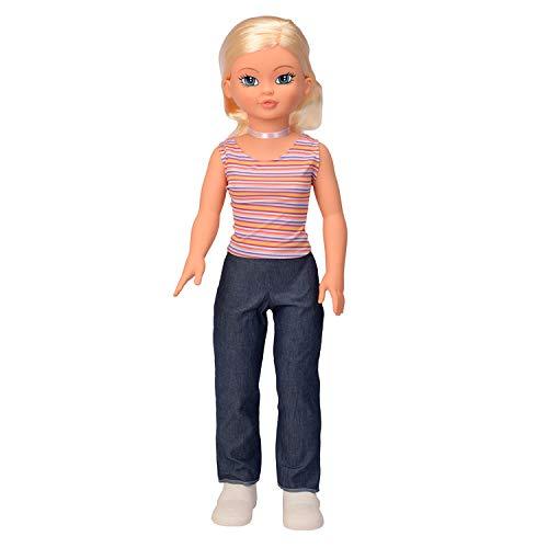 Falca Cathy Pop 85 CM. Muñeca de 85cm Casi Tan Alta como tú, con la Que podrás Jugar, ponerle Tus Vestidos y peinarla. Muñeca articulada. Producto Recomendado para Mayores de 3 años