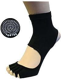 TOETOE chaussettes anti dérapantes talon ouvert noires