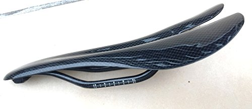 Voll 3K Carbon Fiber Sattel Rennrad Sportsattel MTB Fahrradsattel Trekk 94g (Glossy)