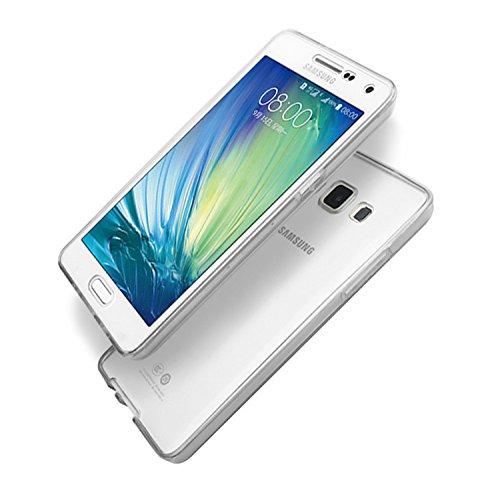 Vandot Samsung Galaxy Grand Prime SM-G530FZ Coque de Protection Etui Transparent Antidérapant Pour Samsung Galaxy Grand Prime SM-G530FZ Etui Protection Dorsale Étui Slim Invisible Housse Cover Case en Transparent-Blanc