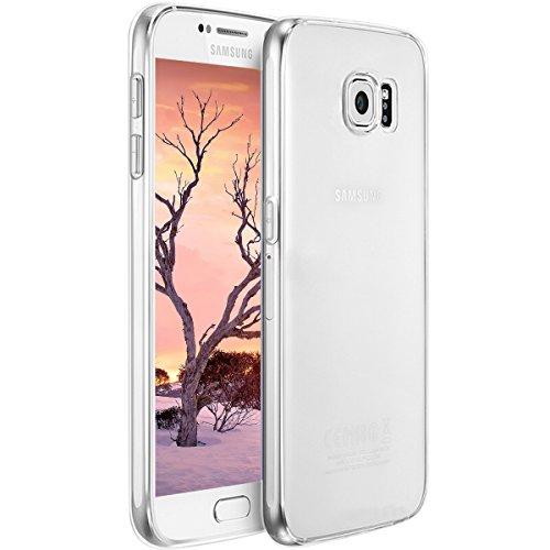 Hülle für Samsung Galaxy S6, Crystal Clear TPU Transparent Schutzhülle, Soft Flexibel Silikon Cover, Anti-Kratzer Durchsichtige Handyhülle Abdeckung Case Cover für Samsung Galaxy S6