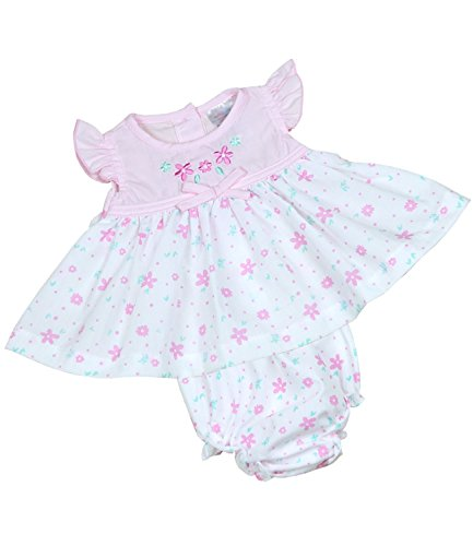 8fb032b57 Babyprem Premature Baby Dress & Knickers Set Flowers Girls Clothes Pink  White