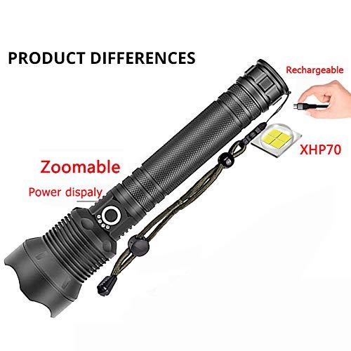 DZSF XHP70 LED Linterna antorcha USB Recargable lámpara