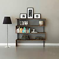 The Furniture Project Bibliothek Design xery–135x 127cm–braun preisvergleich bei billige-tabletten.eu