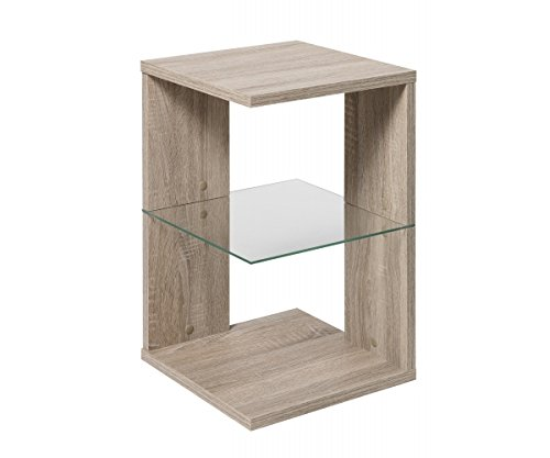FMD Möbel 649-002 Beistelltisch Holz - Eiche