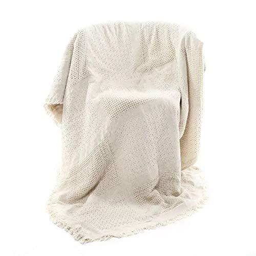 Manta para sofá, Toalla de sofá de algodón Jacquard de Doble Cara...
