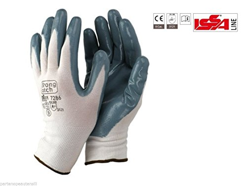 Price comparison product image Gloves Nitrile Spalmati TG.Pack of 10. 240 Work Glove Coated Nitrile Nylon