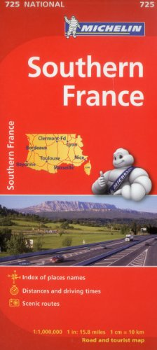 Michelin Southern France Map 725 (Maps/Country (Michelin)) por Michelin