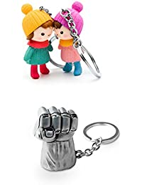 Three Shades Hulk Silver Key Chain Combo With Beautiful Couple Love In Winters Set Of 2 Key Chain