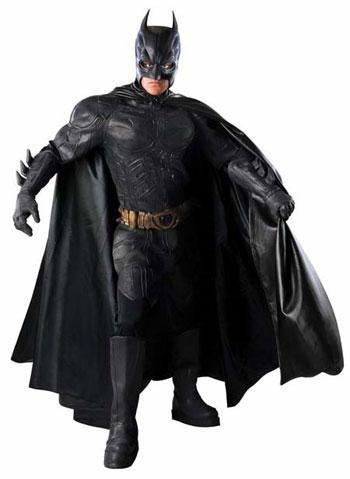 Batman Latex Kostüm Deluxe ()