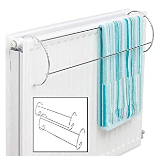Taylor & Brown® Set of 2 Chrome Twin Radiator Indoor Clothes Airer Dryer Towel Rail Rack Stand