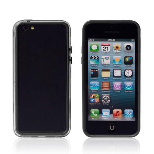 Couleur double ultra-mince couverture Bumper cadre pour l'iPhone 5C noir