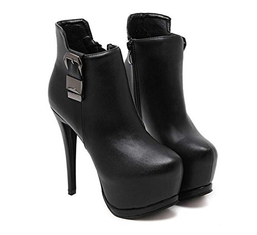 Donne Stiletto Stiletto 14 cm Stivaletto Stivali Stivali Boots Stivali Boots Stivali Boots Stivali Boots Stivali Boots Stivali Stivali Boots ( Color : Black , Size : 37 )