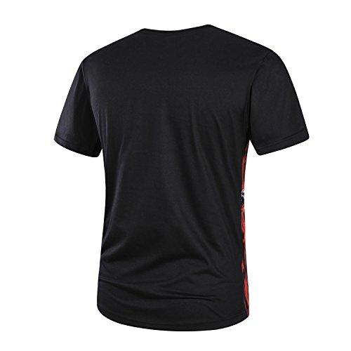 BOMOVO Herren Vintage T-Shirt VT-MONAC R-2408 Schwarz