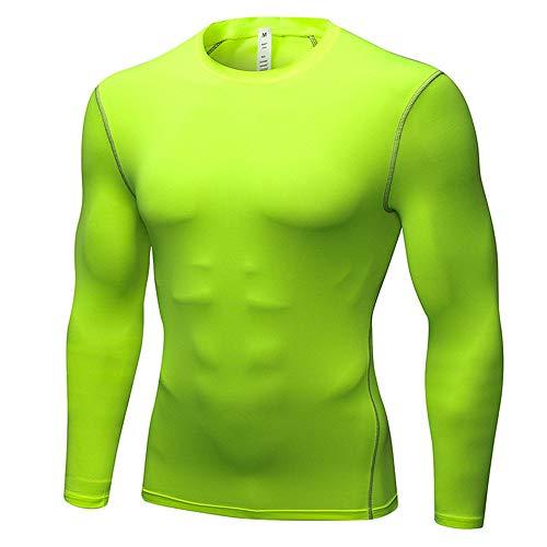 Running Fitness Wear, Herren Fitness T-Shirt Sport Fitness Compression Shirt, Trainingsoberteil für Herren, Muscle Slim Tops, Kompressionsstudio für Herren, Langarm, Warme Sweatshirts, Sport-T-Shirts -
